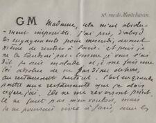 Guy de MAUPASSANT /  Carte autographe signée / Maupassant malade et désespéré.