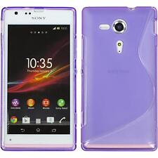Silicone Case for Sony Xperia SP S-Style purple + protective foils
