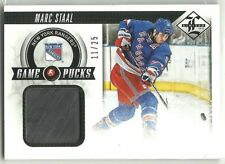 2012-13 Limited Game Pucks MARC STAAL RANGERS PIECE OF AUTHENTIC PUCK SP /25