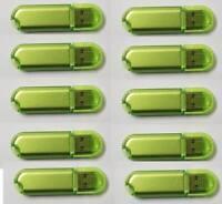 10 Pack 1GB-16GB USB 2.0 Flash Drive Thumb Pen Drive Memory Stick Green