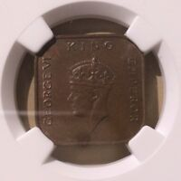 Malaya 1940 One Cent NGC MS 63 BN