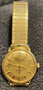 Vintage Lucien Piccard Seashark  Men's Wristwatch 10K gold filled RUNS!!!!!!!