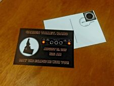 Aug 2017 Total Solar Eclipse Garden Valley Idaho Stamped Hand Canceled Postcard