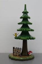 128-111h0001 Hubrig Sommerbaum mit Holzstapel