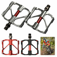 PROMEND Mountain Road Bike Pedals 3 Bearings Carbon Fiber Core Tube Pedals Flat