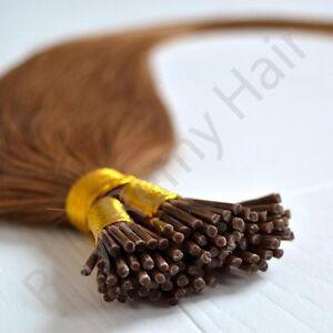 """20"""" Pre Bonded 100% Natural Remy Stick Tip I-Tip i-Tip 1g 0.5g Hair Extensions"""