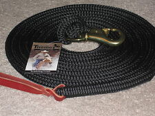 THOMEY NATURAL HORSE TRAINING LEAD ROPE, 14FT.~ GREAT FOR GROUNDWORK ~ BLACK
