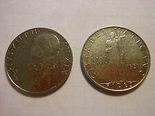 Moneta Città del Vaticano L. 100 1957