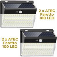 ATEC - Faretto Solare da Esterno IP65 (2PZ Faretto 206 Led)