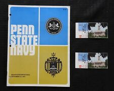 1972 PENN STATE LIONS vs NAVY FOOTBALL PROGRAM NICE JOHN CAPPELLETTI + TICKETS