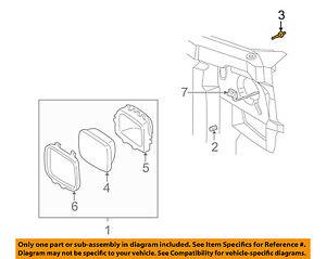 GM OEM Foglight Fog Driving Light Lamp-Adjust Nut 15714775