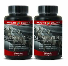 Extreme Muscle Growth Pills - Deer Antler Plus 550mg - Nettle Root Powder 2B
