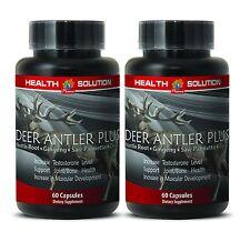 Male Enhancers Supreme Caps - Deer Antler Plus 550mg - Elk Antler Velvet 2B