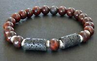 Spiritual Beads Men's Bracelet 8mm Bloodstone Beads NEW SALE