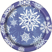 Winter Snowflakes 9in. Paper Plates Pk 8