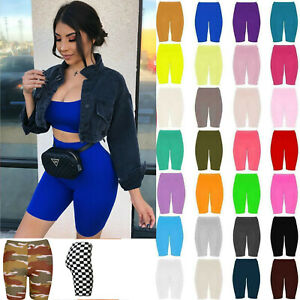 Womens Cycling Shorts Dancing Gym Pants Running Active Casual Biker Walking Yoga