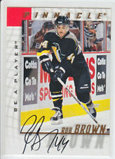 1997-98 PINNACLE BAP ROB BROWN AUTO Autograph #48 Be A Player Penguins