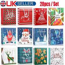 28X Christmas Party Bags Cupcake Cookie Sweets Favour Candy Xmas Gift Box Holder