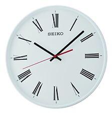 Seiko trotteuse silencieuse Horloge murale Blanc 31.8 x 6 x 31.4 cm
