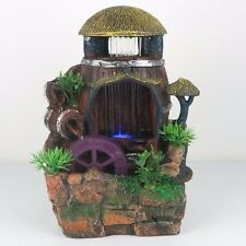 """New listing Water Fountain w/ Led Lights Watermill Zen Indoor Home Decor 11""""H New"""