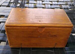 Antique Dark Wooden Singer Sewing Machine Box- Folding Flat  Puzzle box 1889