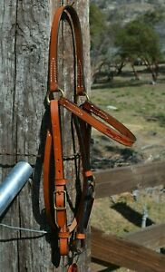"""Circle Y 5/8"""" Kenny Harlow Ring Browband Headstall - Highly Adjustable"""
