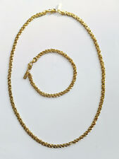NEW CLEARANCE GOLD GP SNAKE CHAIN NECKLACE BRACELET 2 PC SET FAST FREE SHIP #704