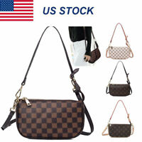 Women Leather Crossbody Purse Cell Phone Monogram Handbag Clutch Shoulder Bag