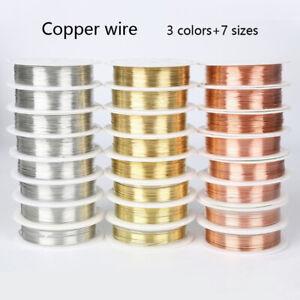 1 Roll 0.2-1mm Jewelry Making Copper Wire 20 Gauge Crafts DIY Copper Wire Line