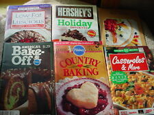 PILLSBURY BAKE OFF 28TH & COUNTRY BAKING PLUS 4 MORE PB COOKBOOKS FREE USA SHIP