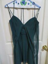 New BCGG Maxazria Shay Formal Dress Elm Green Sheer 100% Silk Halter Size 6