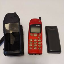 NOKIA 5160 NSW 1NX Vintage Cell Phone w/ Original Battery and Leather Case RED