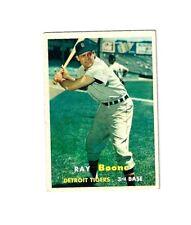 1957 Topps Baseball #102 RAY BOONE NM DETROIT TIGERS  NO CREASE COMBINE SHIP