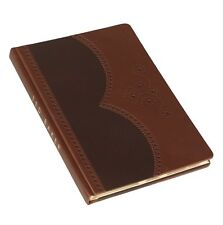 """Brand New Ted Baker London """"Brogue"""" Brown 100% leather, Gold Gilded (M) Notebook"""