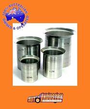 SET 4 ALUMINIUM PAINT MIXING POTS/CUPS.REUSABLE LIGHTWEIGHT 4Lt 2Lt 1Lt & 500ml