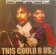 """PRINCE """"THIS COULD B US"""" OFFICIAL 1 TRACK PROMO CD + PRESS STICKER be"""