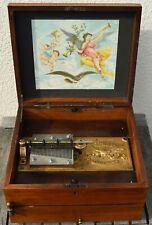 Adler Spieluhr mit Doppelkamm für 26,3 cm Platten old music box