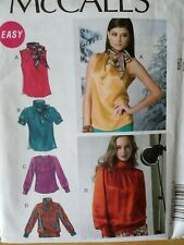 McCall's Sewing Pattern #M6650-Misses' TOPS-BLOUSES-Sizes: 12-20-Uncut-EASY