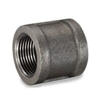 """(Lot of 10) 3/4"""" BLACK MALLEABLE IRON PIPE COUPLING FITTING - P6683"""