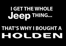 4X4 STICKER FUNNY JEEP / HOLDEN