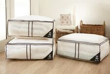 NEW 3 JUMBO STORAGE BAGS ZIPPED UNDERBED  LOFT & 2 FREE BREATHABLE CHESTS
