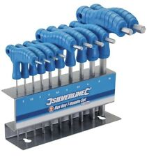 Silverline T Handle Metric Allen Hex Wrench Key Set with Stand Alan Allan