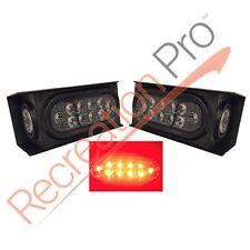 """2 LED TRAILER TRUCK HD STEEL HOUSING BOX w/CLEAR 6"""" OVAL LIGHT & 2"""" MARKER LIGHT"""