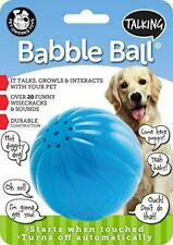 Pet Qwerks Talking Babble Ball Large Touch Activated Solid Dog Ball Toy Blue