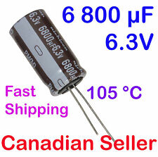 5pcs 6800uF 6.3V 16x31.5mm 105 °C Nichicon PM Extremely Low Impedance For TV LCD