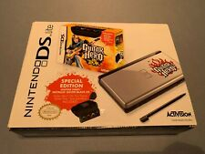 Nintendo DS Lite Guitar Hero Special Edition Black & Silver Handheld New Sealed