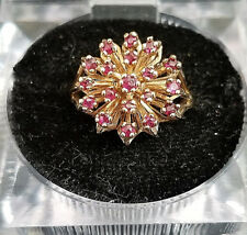 10k Yellow Gold Ruby Cocktail Ring Lot DD