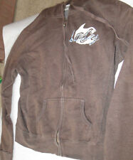 BILLABONG FRONT ZIP HOODIE BROWN YOUTH SIZE LARGE