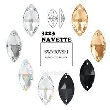 (Choose Color & Size) Swarovski Elements 3223 Navette Sew On Crystal Rhinestones