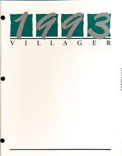 1993 Mercury Villager Van Original Car Press Guide Brochure like